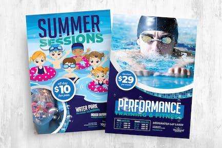 Schwimmbad-Flyer & Broschüren-Vorlagenpaket