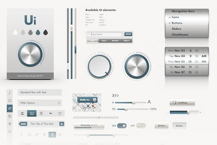 iOS UI Elements - GUI User Interface Pack