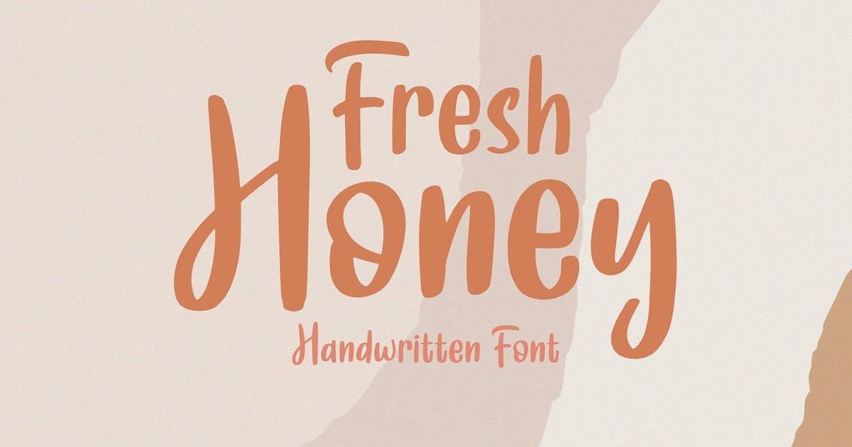 Download Fresh Honey || Handwritten Font by axelartstudio