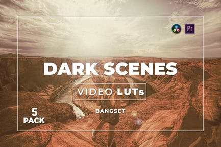 Pack 5 LUTs de vídeo de Bangset Dark Scenes