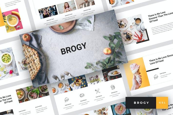 Thumbnail for Brogy - Food & Beverages Google Slides Template