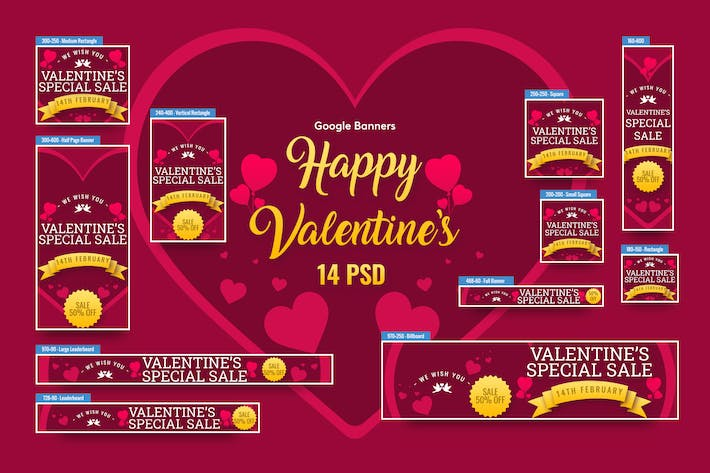 Valentine's Day Banners Ad