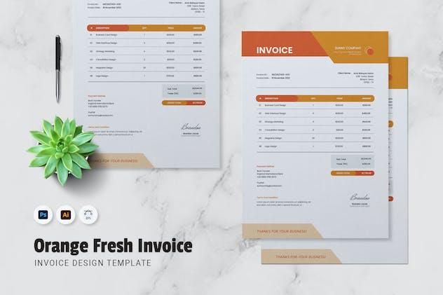Orange Fresh Invoice