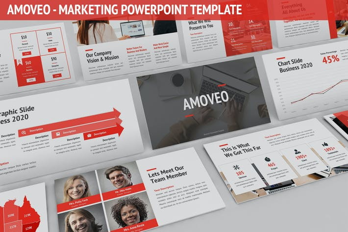 Thumbnail for Amoveo - Marketing Powerpoint Template