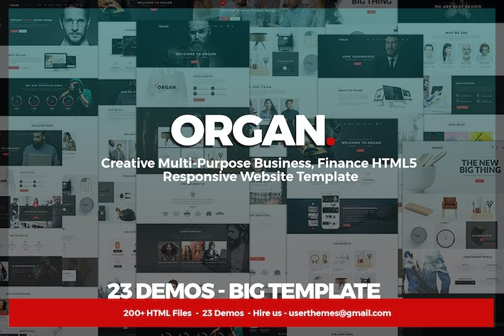 Thumbnail for Organ - Multi-Purpose Business, Finance HTML5