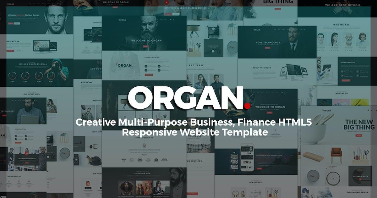 Download Organ - Multi-Purpose Business, Finance HTML5 by UserThemes