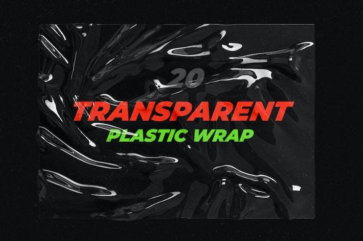 Thumbnail for Transparent Plastic Wrap Texture Mock-Up