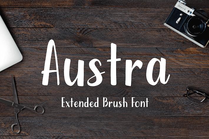 Cover Image For Austra Extended Brush Font