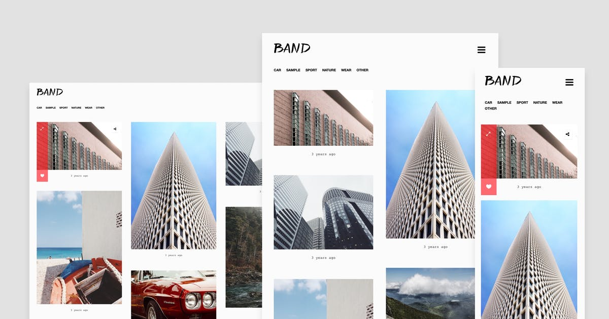 Download Band - Gallery Tumblr Theme with Dark Mode by roseathemes