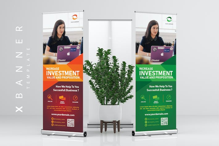 Thumbnail for XBanner Stand Roll Up Banner for Business Purpose