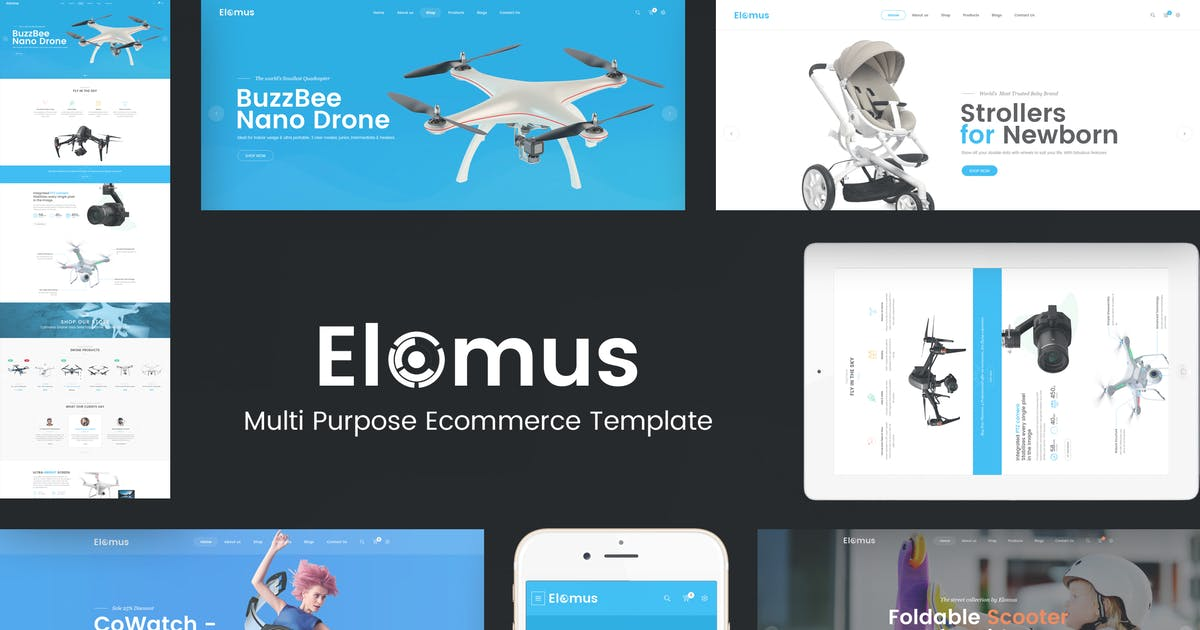 Elomus - Single Product OpenCart Theme by Plaza-Themes