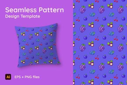 Theme starring Grape - Seamless Pattern