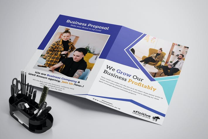 Thumbnail for Business Brochure Template Bifold