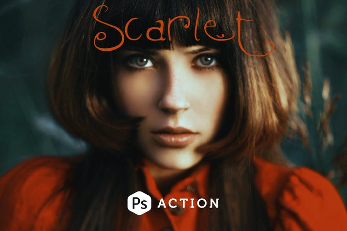 Thumbnail for Scarlet Fantasy Photoshop Action
