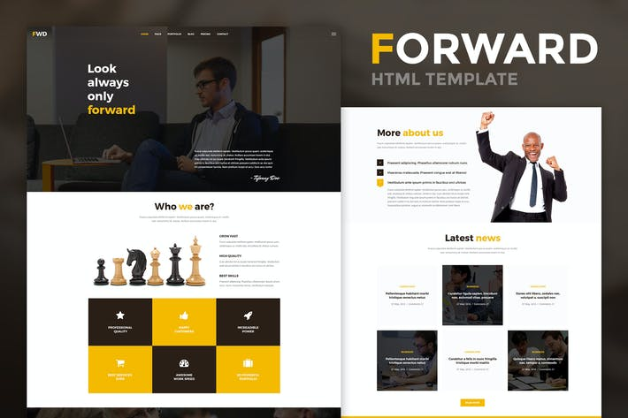 Thumbnail for Forward - Business & Corporate HTML Template
