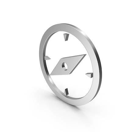 Symbol Compass Silver
