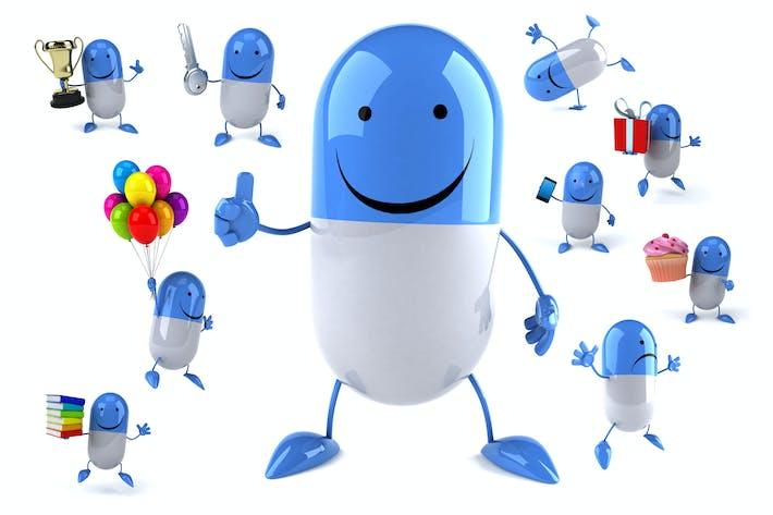 10 fun cartoon Pills !