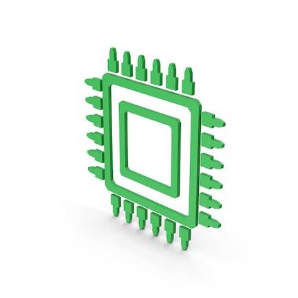 Symbol Microchip Green