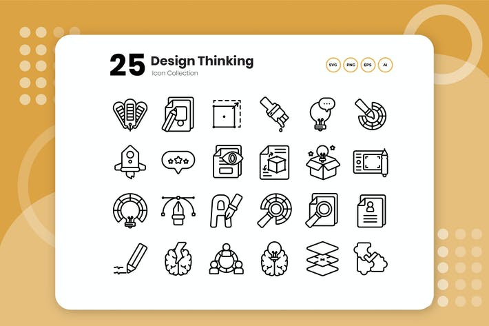 Thumbnail for 25 Design Thinking Outline Icon