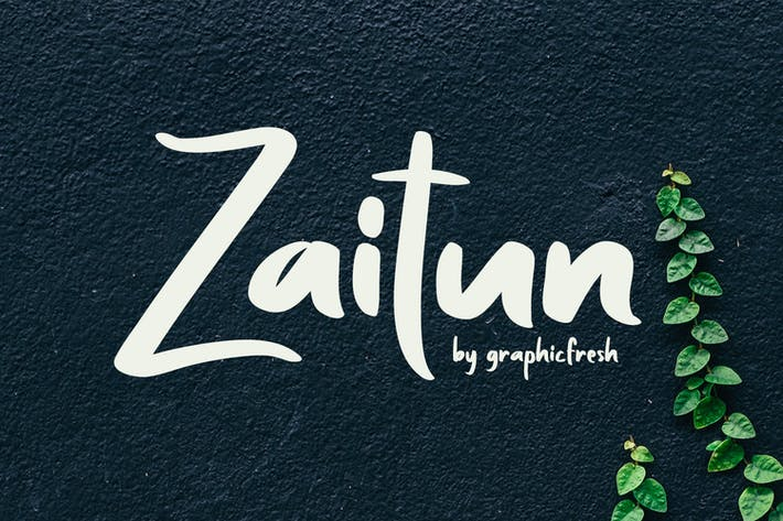Thumbnail for Zaitun | A Nature Branding Font