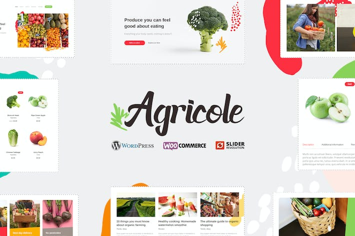 Thumbnail for Agricole - Organic Food & Agriculture WP Theme