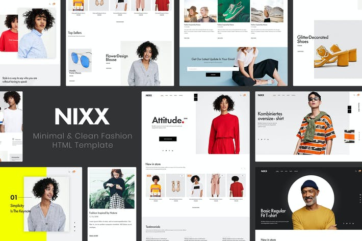 Thumbnail for NIXX | Minimal & Clean Fashion HTML Template