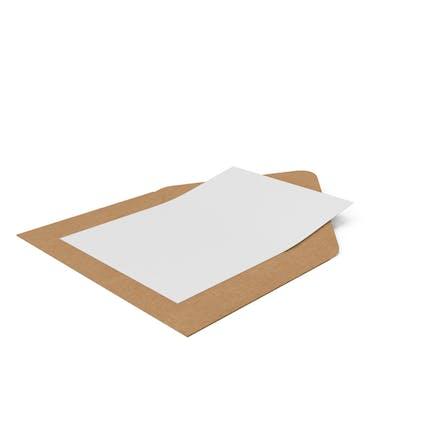 Sobres de manualidades y tarjeta de papel