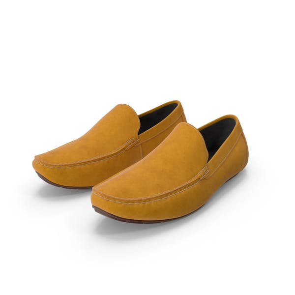 Thumbnail for Tan Leather Loafer Shoes