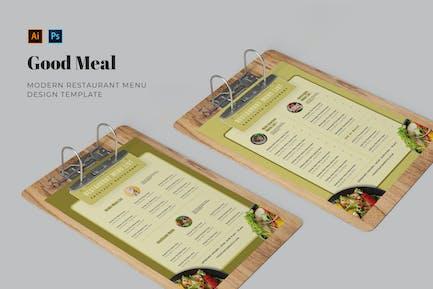 Good Meal Restaurant Menu