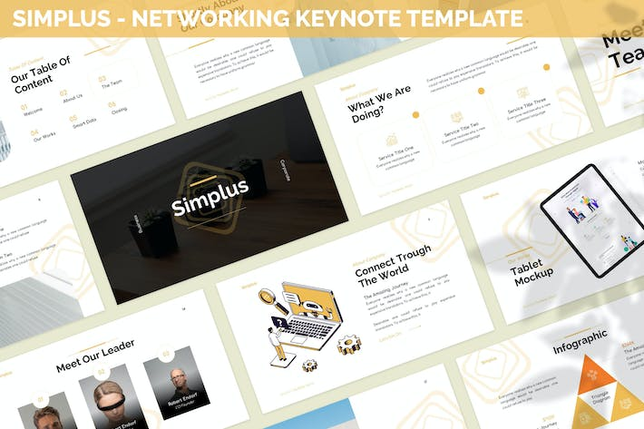 Thumbnail for Simplus - Networking Keynote Template
