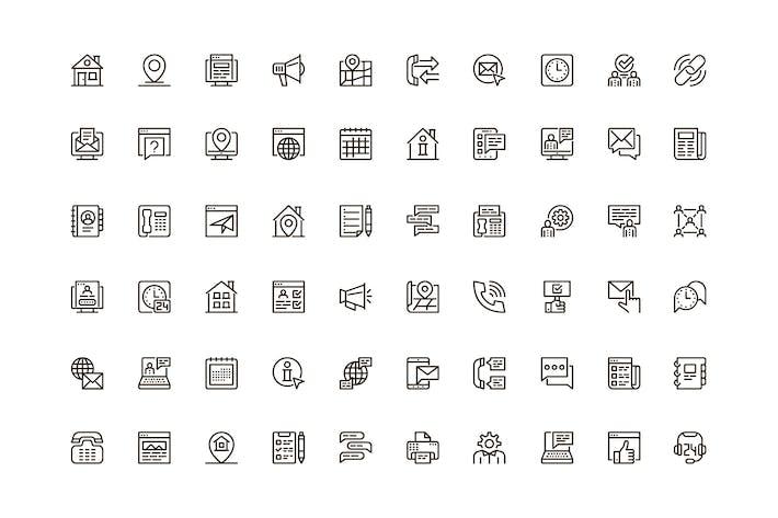Kontaktieren Sie uns Einzigartiges Web Line Icons Pack