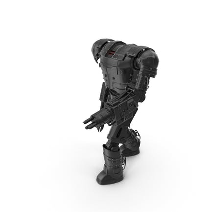 Schwarzer Roboter