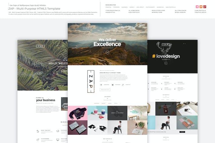 Thumbnail for ZAP - Multi-Purpose HTML5 Template