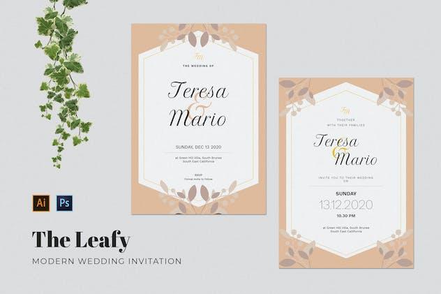 Leafy Wedding Invitation