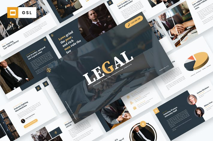 Thumbnail for LEGAL - Attourney & Lawyer Google Slides Template