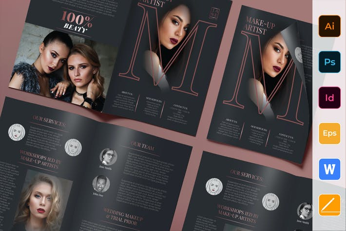 Thumbnail for Makeup Artist Brochure Bifold