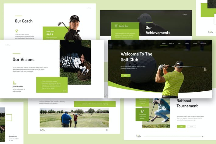 Golfie - Презентация Keynote докладов для гольфа
