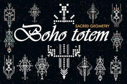 Boho Totem. Heilige Geometrie