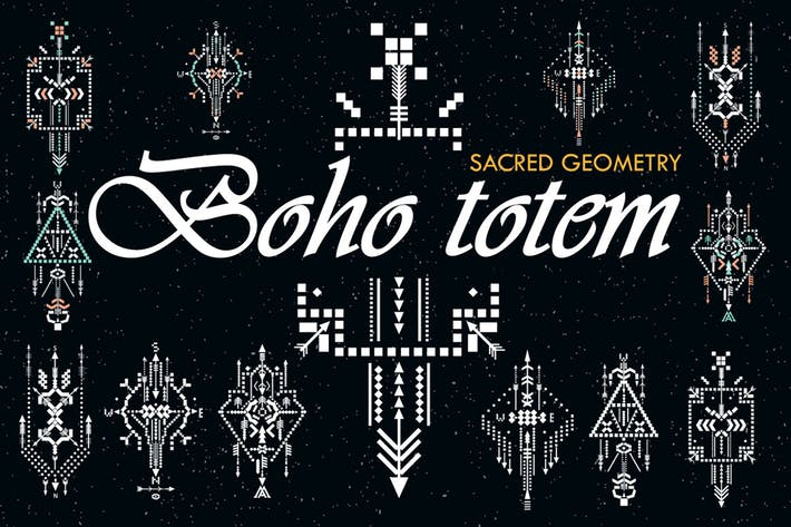 Thumbnail for Boho totem. Sacred geometry