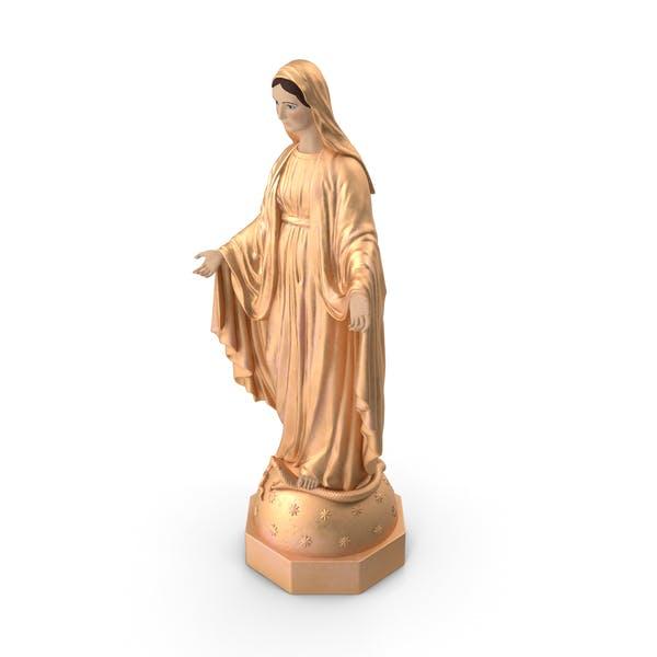 Madonna Jungfrau Maria Statue Golden