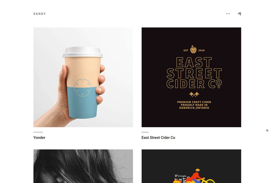 Sandy - Minimal Portfolio WordPress Theme
