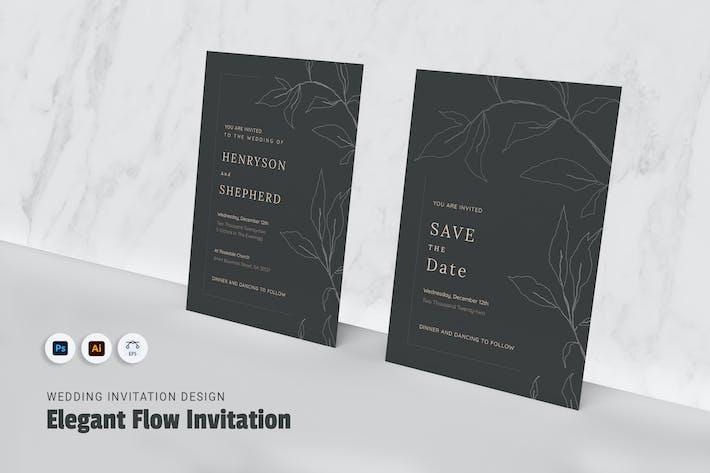 Elegant Flow Wedding Invitation