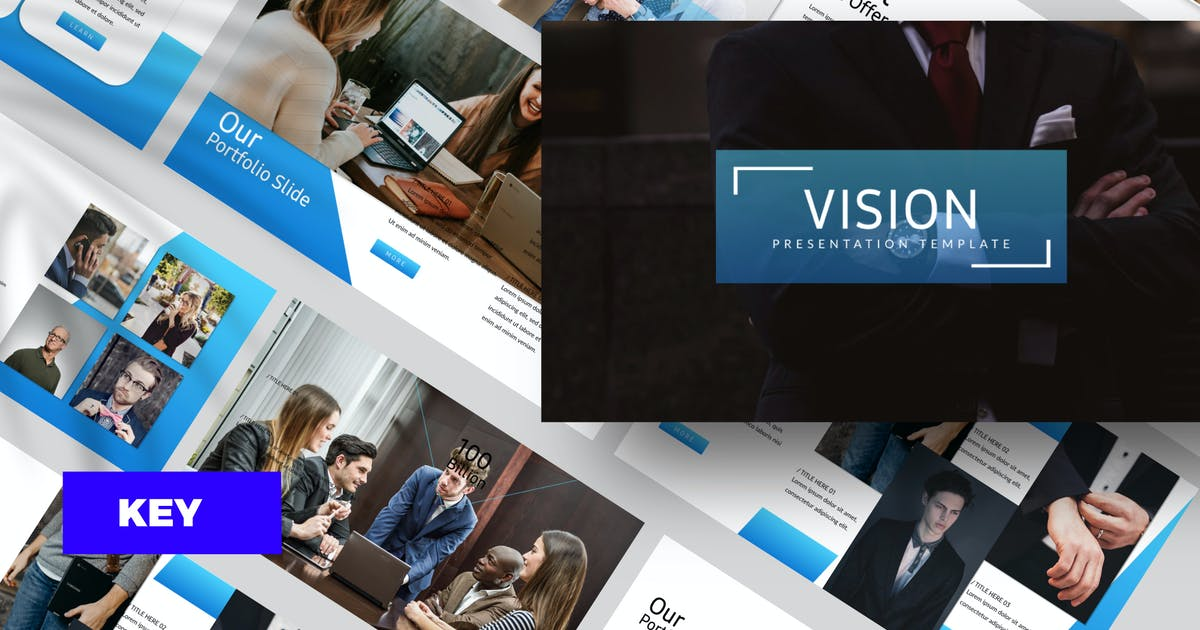 Download Vision Corporate Keynote by dirtylinestudio