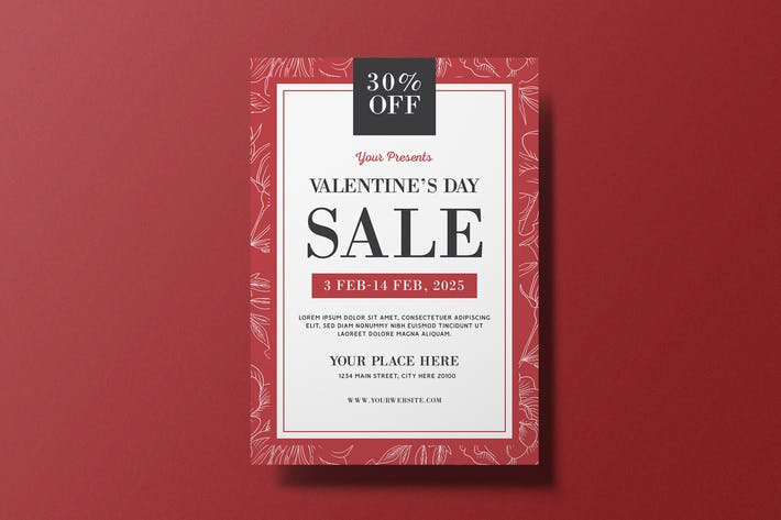 Thumbnail for Valentine's Day Sale Flyer