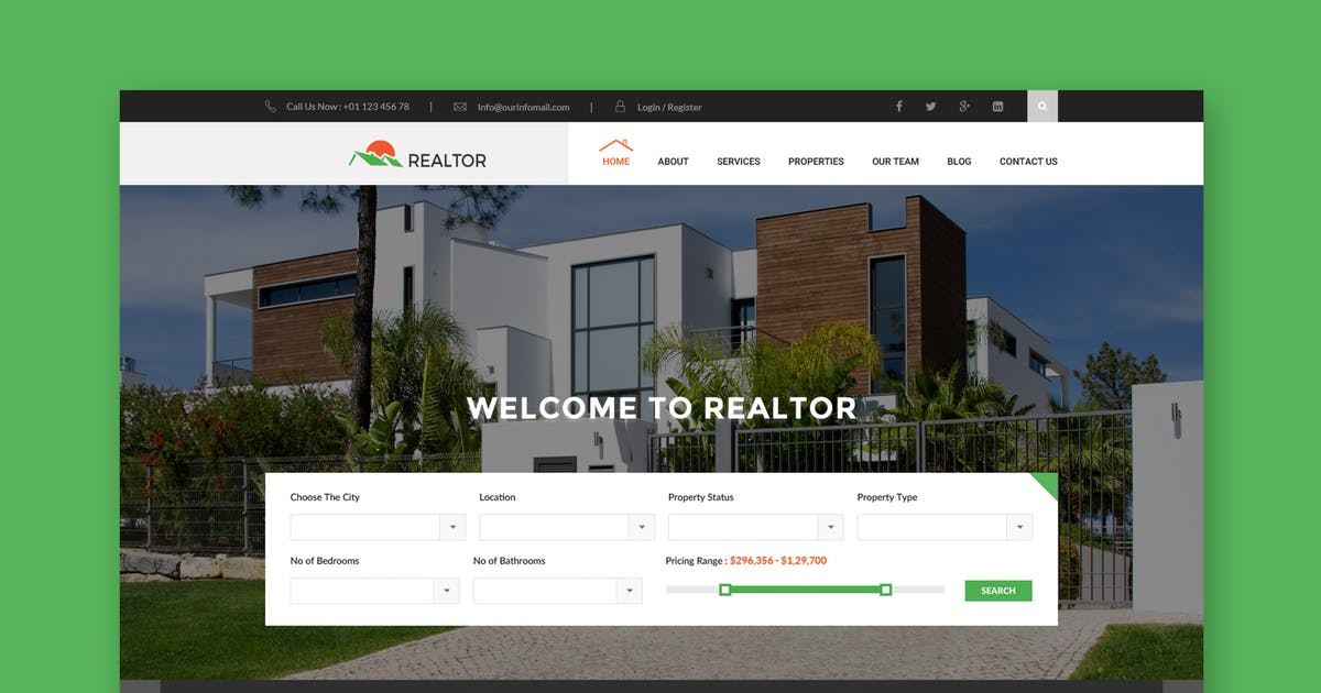 Download Realtor - Real Estate HTML Template by WPmines