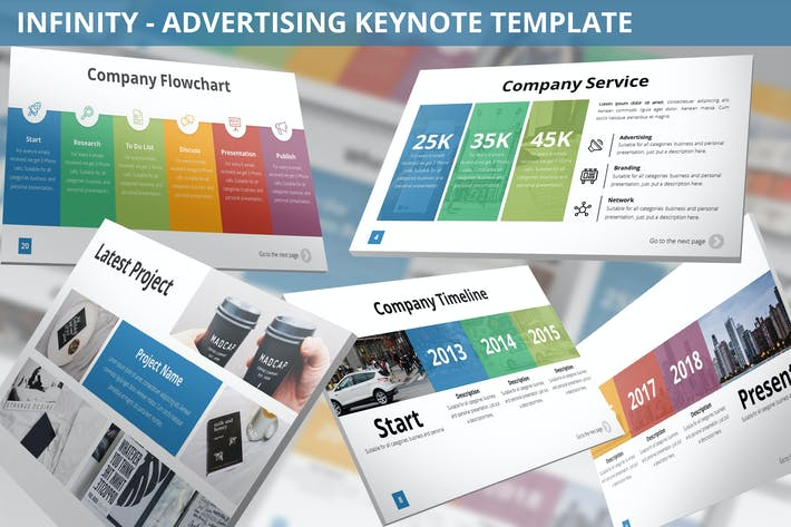 Thumbnail for Infinity - Advertising Keynote Template