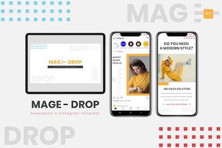 MAGE DROP - Powerpoint & Instagram Template
