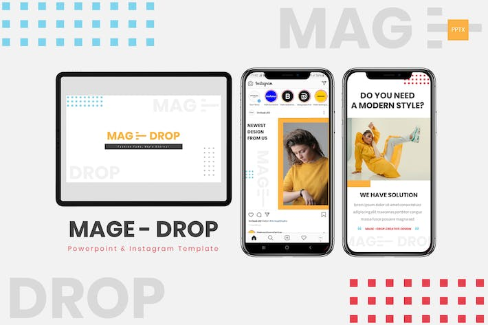Thumbnail for MAGE DROP - Шаблон Powerpoint & Instagram