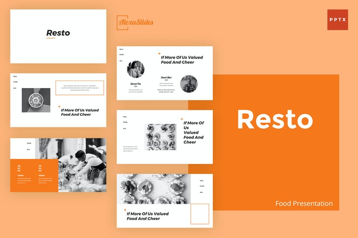 Thumbnail for Resto - Food Powerpoint Presentation Template