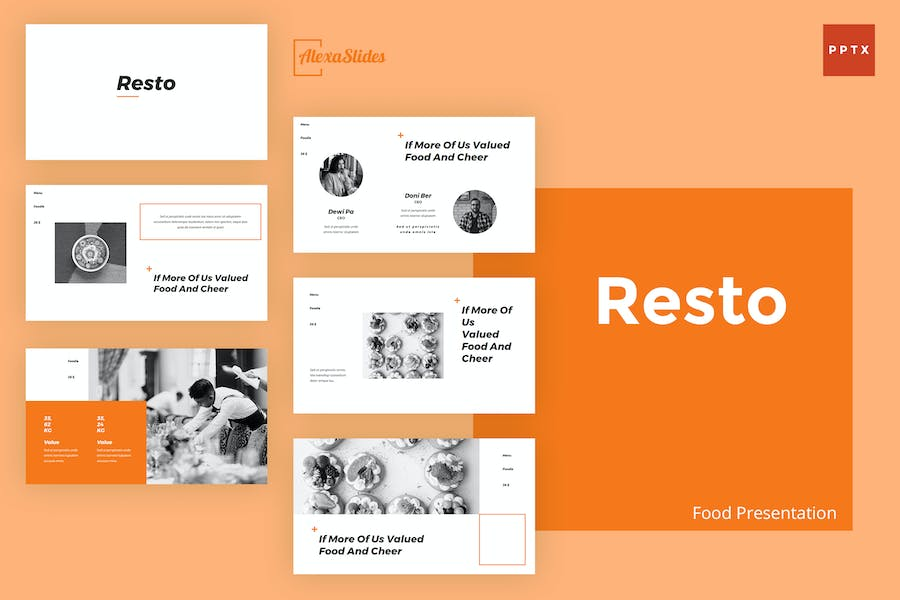 Resto - Food Powerpoint Presentation Template